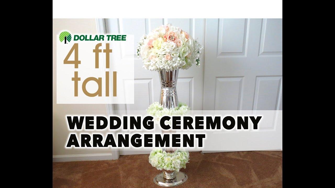 DIY Wedding Ceremony Aisle Pedestal Centerpiece 4 Ft - Dollar Tree ...