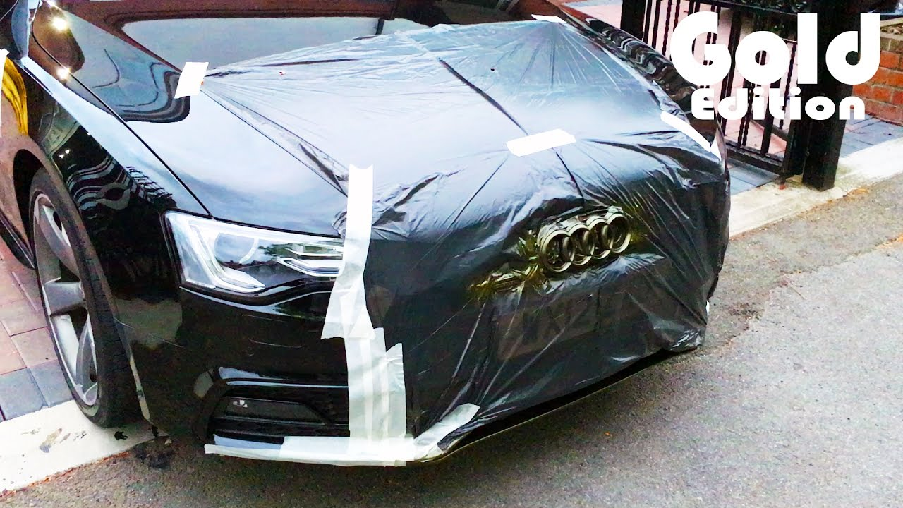 Plasti Dip Audi A5 Badges