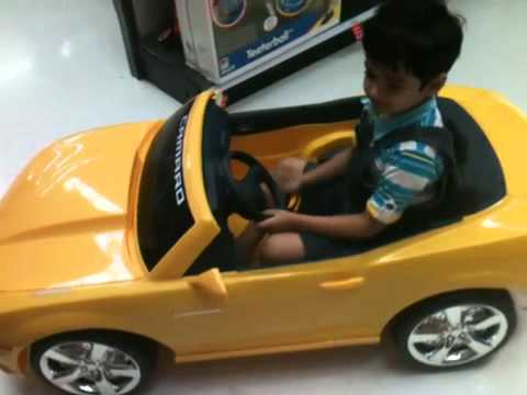 Ron Riding Car In Toys R Us Youtube