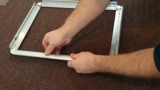 Изготовление рамок из клик-профиля 25мм