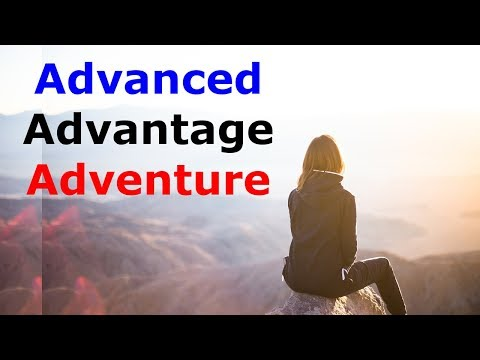 English vocabulary words meaning in Hindi Urdu - Advanced adventure advantage sentences translation