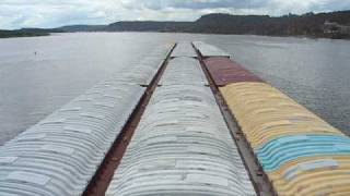15 Barge tow on the Upper Mississippi River