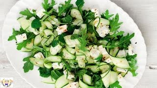 Courgette, Feta And Mint Salad