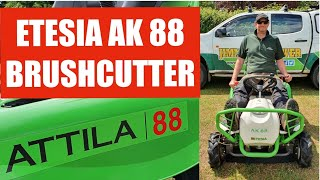 Etesia AK88 Brush cutter ride on review Jimmy the Mower mowing rough long grass Attila demonstration