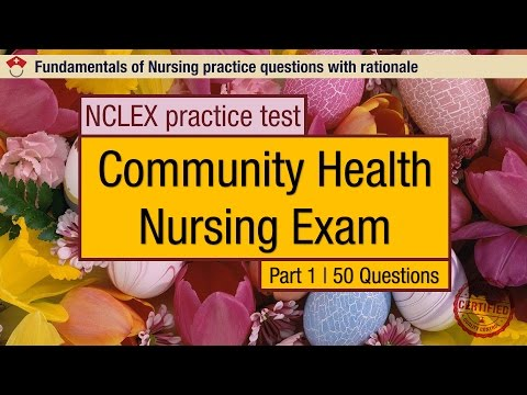 NCLEX practice test: Community Health Nursing Exam Part 1