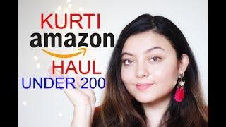 AMAZON KURTI HAUL under Rs 200   Deblina Rababi