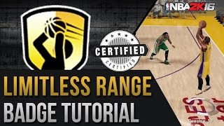 NBA 2K16 The Best Limitless Range Badge Tutorial - Get More Green Lights!