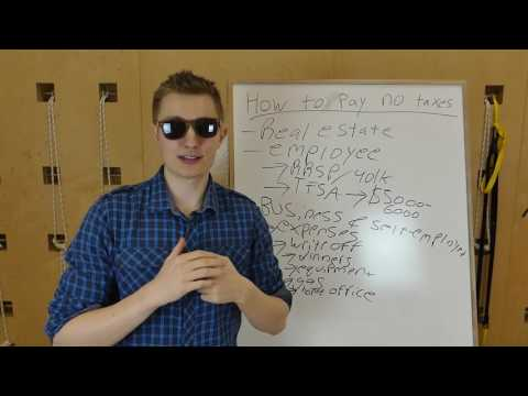 How to Pay No Taxes - How to Lower Your Taxes - Part 1