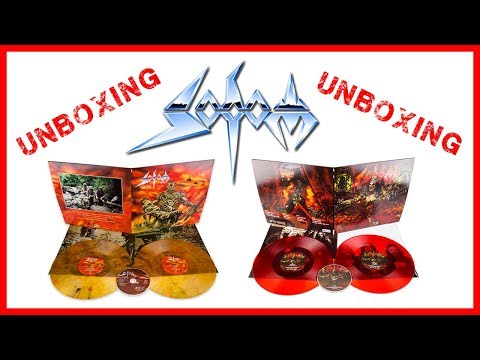 SODOM  Unboxing  Vinyl  Tom Angelripper  M16  Agent Orange  Tapping The Vein