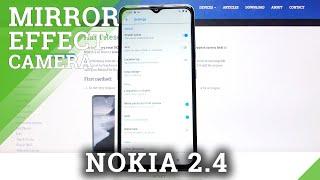 Jak spravovat zrcadlový efekt fotoaparátu v aplikaci NOKIA 2.4 - Možnost Odebrat odraz