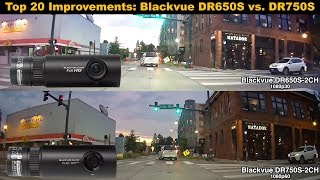 dashcam Blackvue 750S 2CH vs DR650S 2CH Video comparing