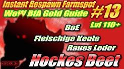 WoW BFA Instant Respawn Farmspot #13   Hockes Beet   BoE+Fleischige Keule+Raues Leder   Lvl 110+