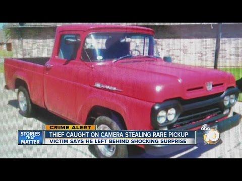 Thief caught on camera stealing rare pickup