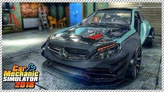 Monster 800hp Widebody Mercedes AMG C63 Coupe - Car Mechanic Simulator 2018 | Ep. 14