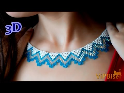 Beaded Necklace With Seed Amp Bugle Beads 3d Beading Tutorial