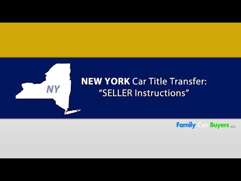 New York Title Transfer SELLER Instructions