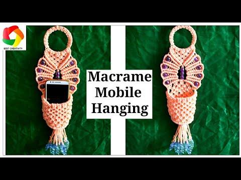 Easy Macrame Mobile Wall Hanging tutorial