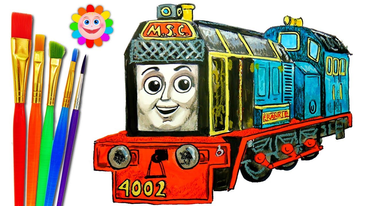 How to DRAW TRAIN Thomas and Friends Coloring Pages Frankie Train     How to DRAW TRAIN Thomas and Friends Coloring Pages Frankie Train Video for  Children