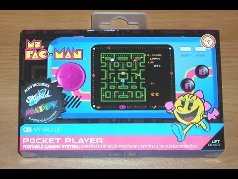 Ms Pac-Man Player! My Arcade Pocket Player (feat. Galaga Player)