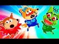 Fox Family Pretend Play PJ Heroes - Kids Plays Rescue Mission | funny stories for kids #1169