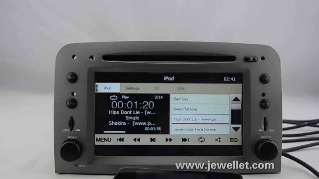 Alfa Romeo 147 GT DVD GPS navigation  YouTube