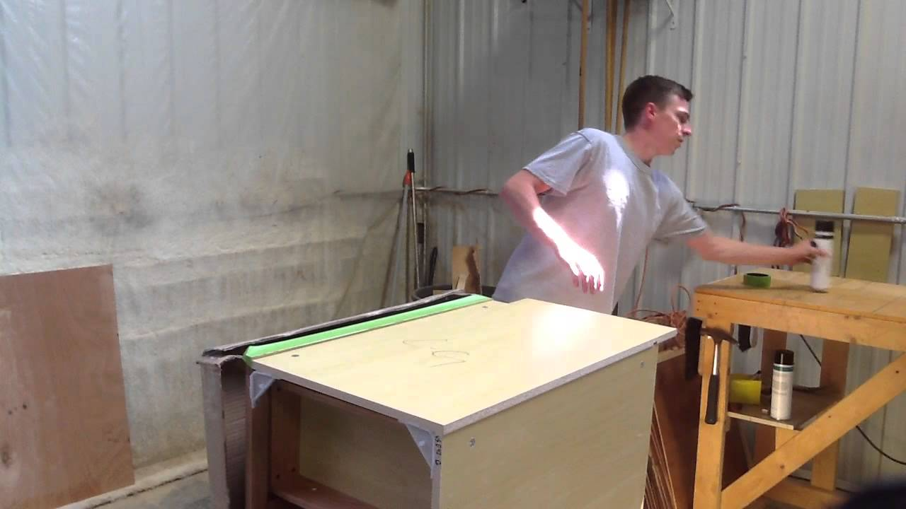 How to skin a cabinet - part 1 - YouTube