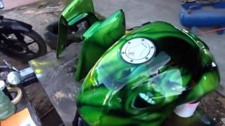 Aerografia en moto