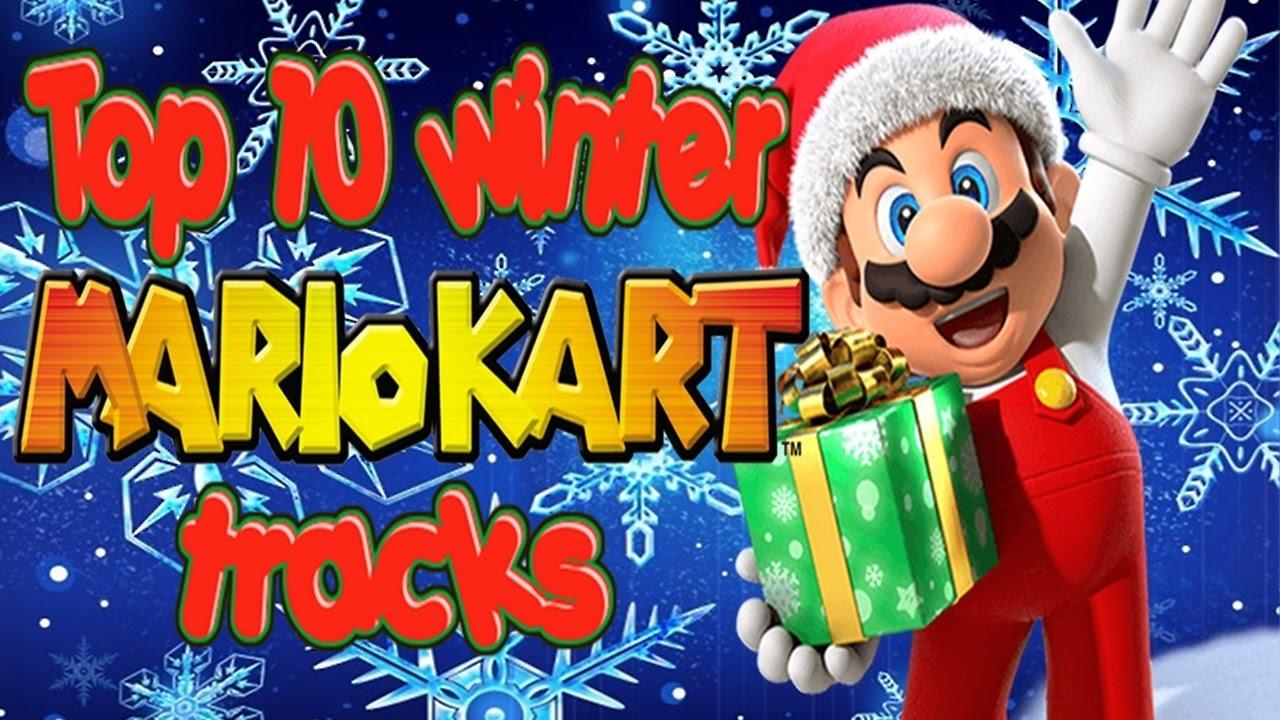 Christmas Mario Kart.Top 10 Winter Mario Kart Tracks Christmas Special 1 3