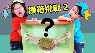 摸箱挑戰 猜猜看箱子裡面有什麼?好好玩喔!有榴莲和食物?一起玩觸感能力遊戲吧!玩具開箱 Jo Channel