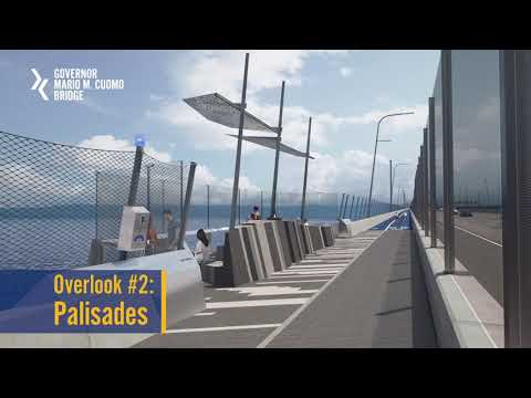 An animated video of the upcoming biking and walking paths on the new Tappan Zee Bridge.