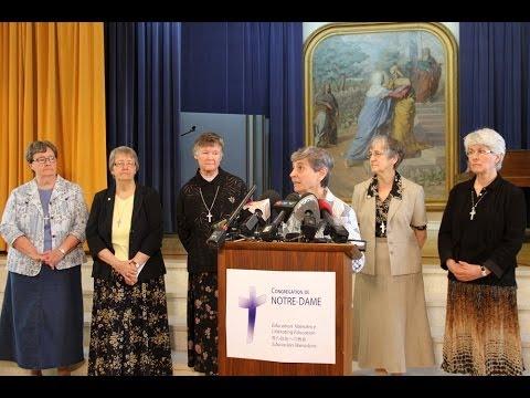 Réaction de la Congrégation Notre-Dame à la libération de sœur Gilberte Bussière