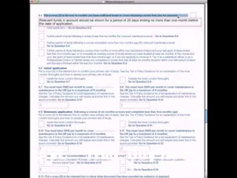 UK Student Visa Application Form.flv - YouTube