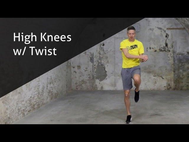 High Knees w/ Twist - hoe voer ik deze oefening goed uit?