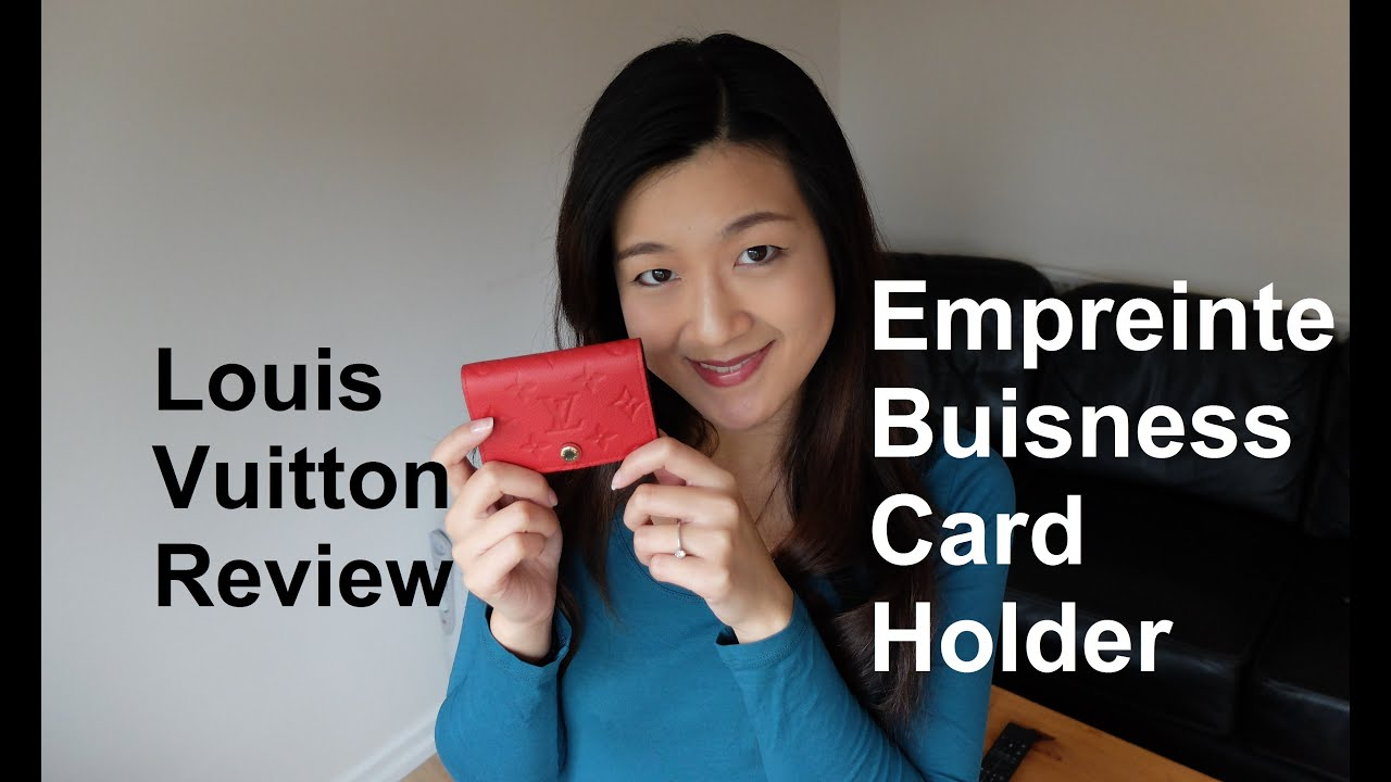 Louis vuitton review empreinte business card holder yuenny lam louis vuitton review empreinte business card holder yuenny lam youtube reheart Image collections