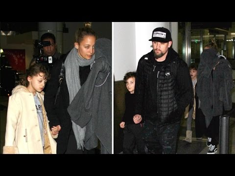 Nicole Richie And Joel Madden Return Home With Kids After New Year's Vacation