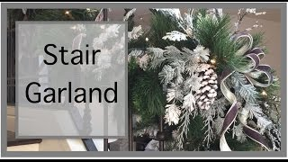 Christmas Decorating Ideas | Christmas Garland | Staircase Garland