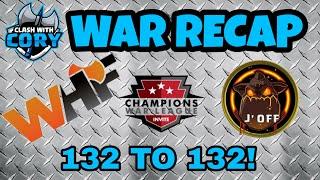 WHF VS J' OFF WAR RECAP CWL INVITE SEASON 5 2018 CLASH OF CLANS