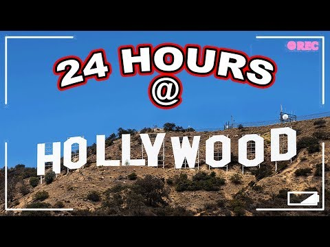 24 HOUR OVERNIGHT CHALLENGE AT THE HOLLYWOOD SIGN // I Stayed The Night at The Hollywood Sign