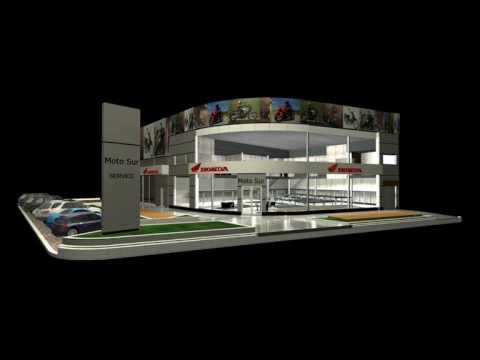 Idear arquitectura animacion 3d agencia de motos honda for Busco arquitecto para proyecto