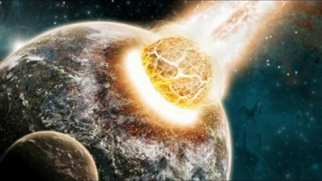Image result for चांद और पृथ्वी की टकर