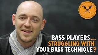 Struggling With Your Bass Technique?... Check Out This Bass Lesson! (L#99)