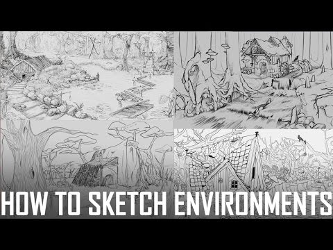 Critique Hour! How to Sketch--Environment Challenge Sketch Submissions!