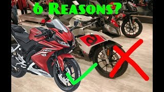 Top 6 Reason To Buy YAMAHA R 15 v 3.0 over Aprilia RS 150 | Reasons Not To Buy Aprilia RS150 2018