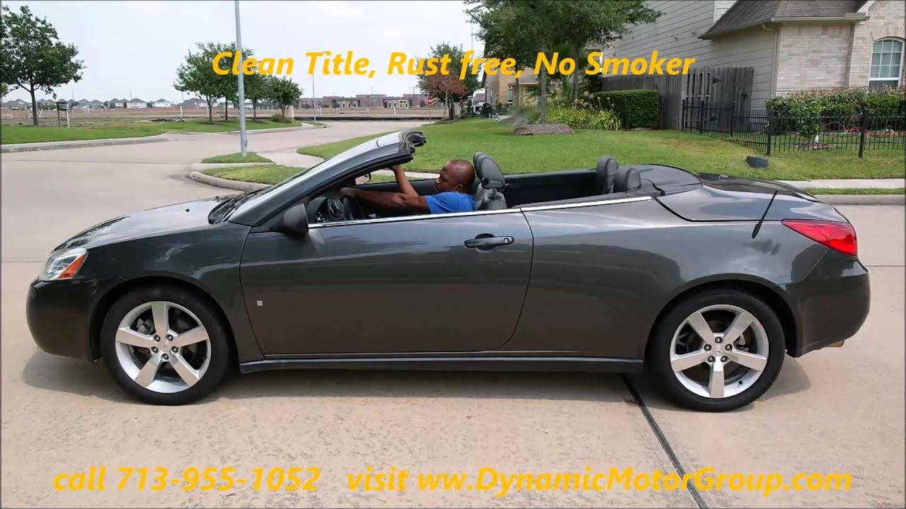 2007 pontiac g6 convertible youtube. Black Bedroom Furniture Sets. Home Design Ideas