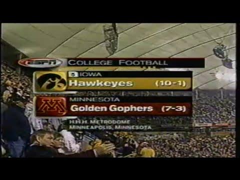 2002 Big 10 Football: #5 Iowa Hawkeyes @ Minnesota Golden Gophers