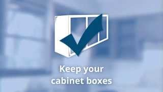 Kitchen cabinet refacing - available at Lowe's - National Refacing Systems