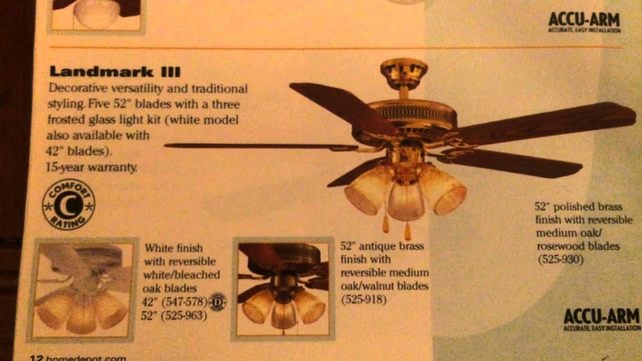 Home Depot Ceiling Fan Catalog 2001