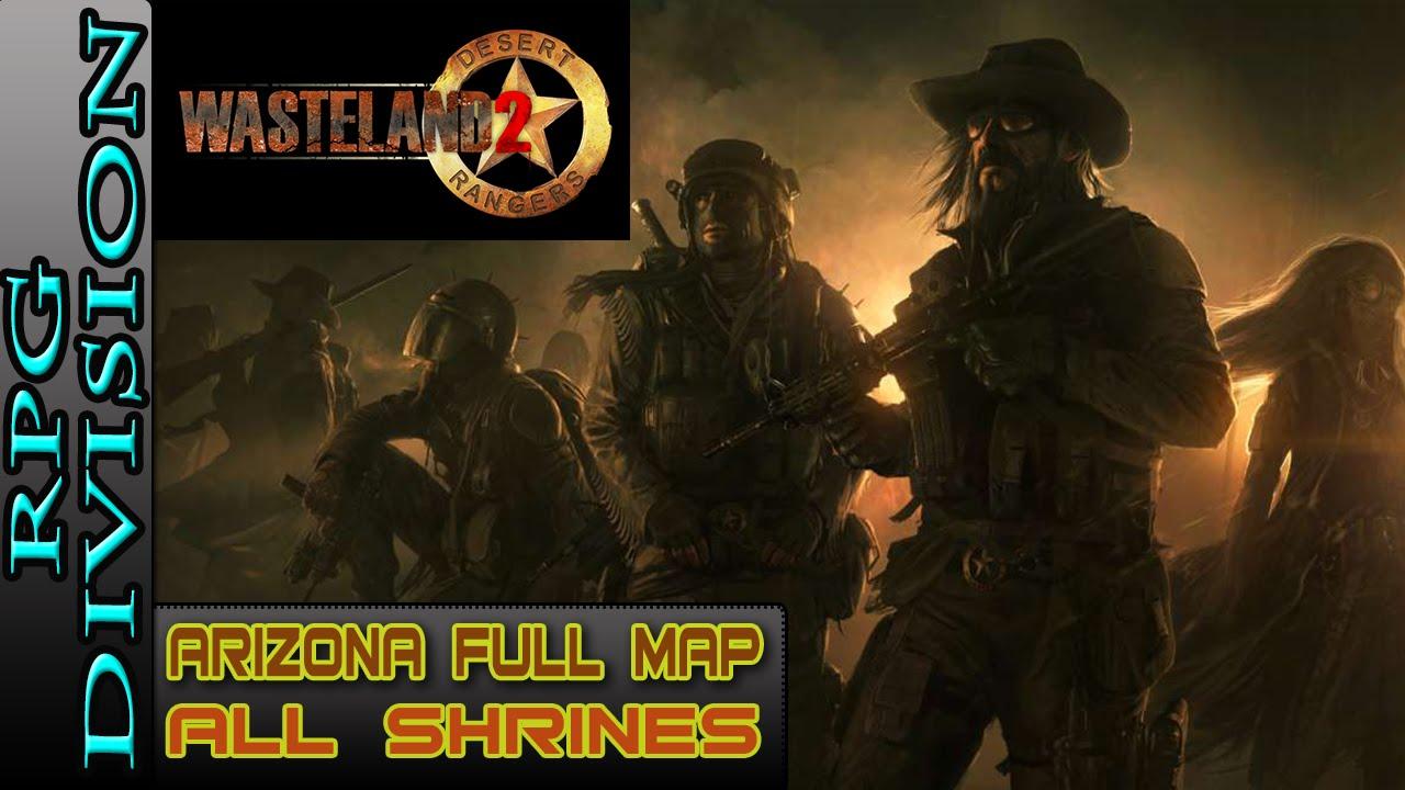 Map Of Arizona Wasteland 2.Wasteland 2 Arizona Full Map All Shrine Locations