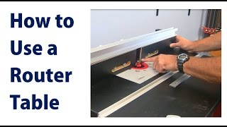 How To Use A Wood Router Table - A Woodworkweb Woodworking Video