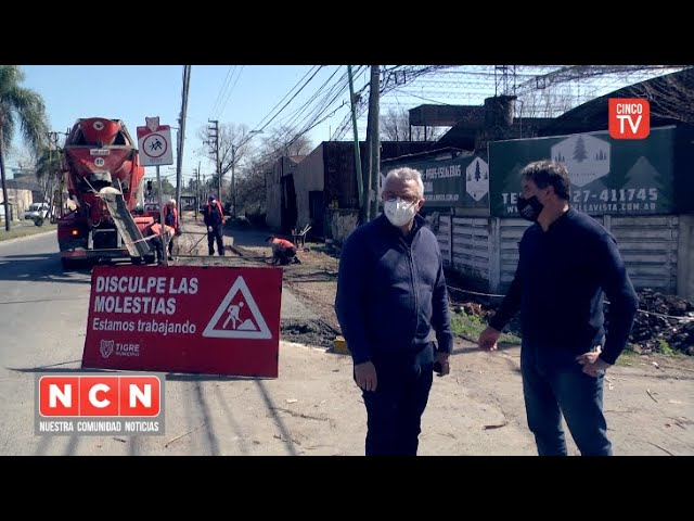 CINCO TV - Julio Zamora supervisó obras en General Pacheco y Ricardo Rojas